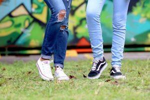 jeansy i buty